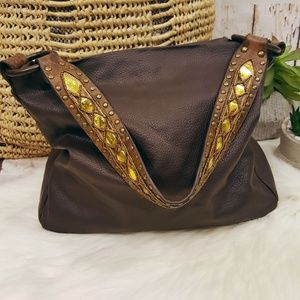 Bueno Studded Boho Shoulder Hobo Purse